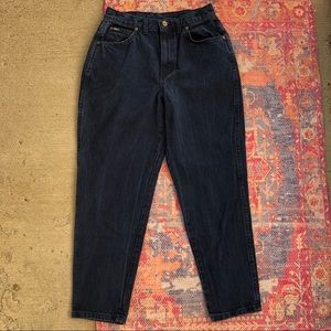 Vintage Chic navy high waisted mom jeans